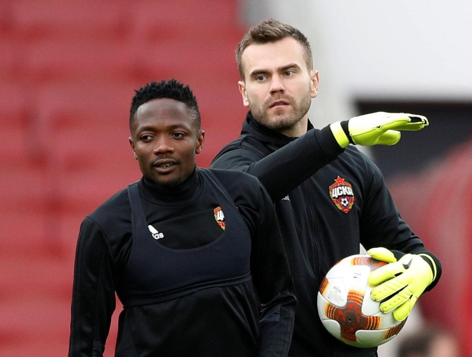 Akinfeev is about to smack him