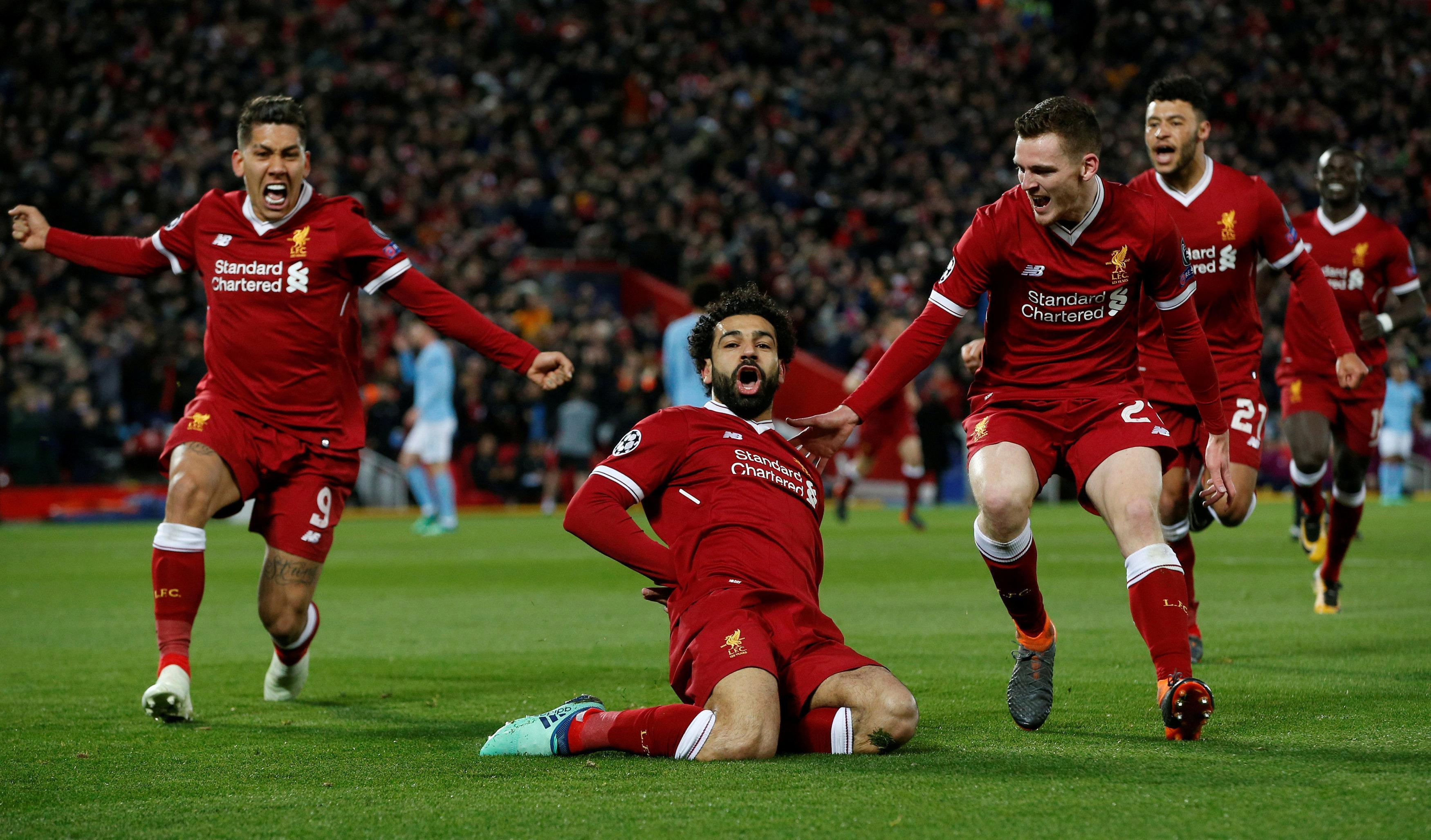 Mo Salah scored Liverpool's first goal from close range