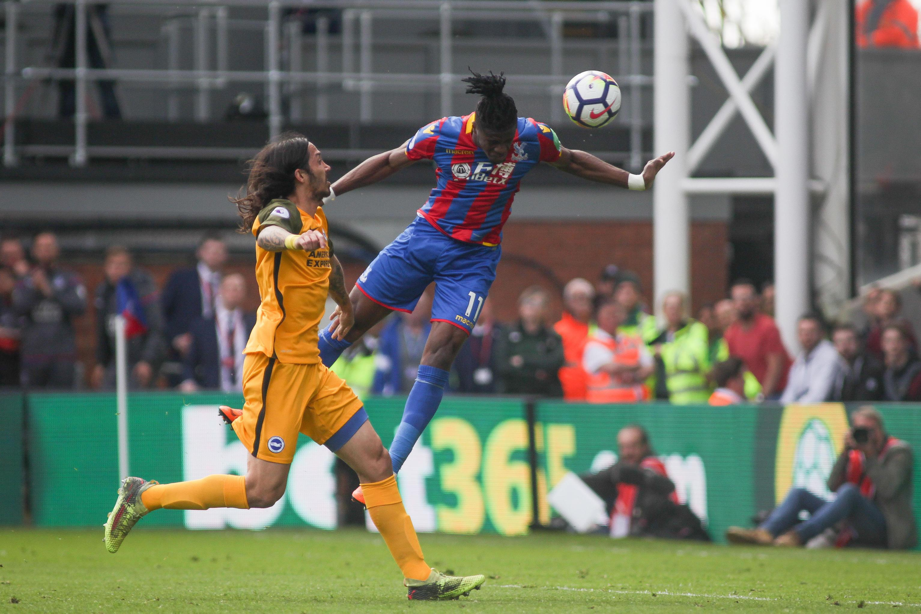Zaha rose brilliantly to head home and make it 3-1