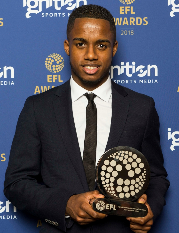 Ryan Sessegnon cleaned up at the EFL Awards on Sunday night