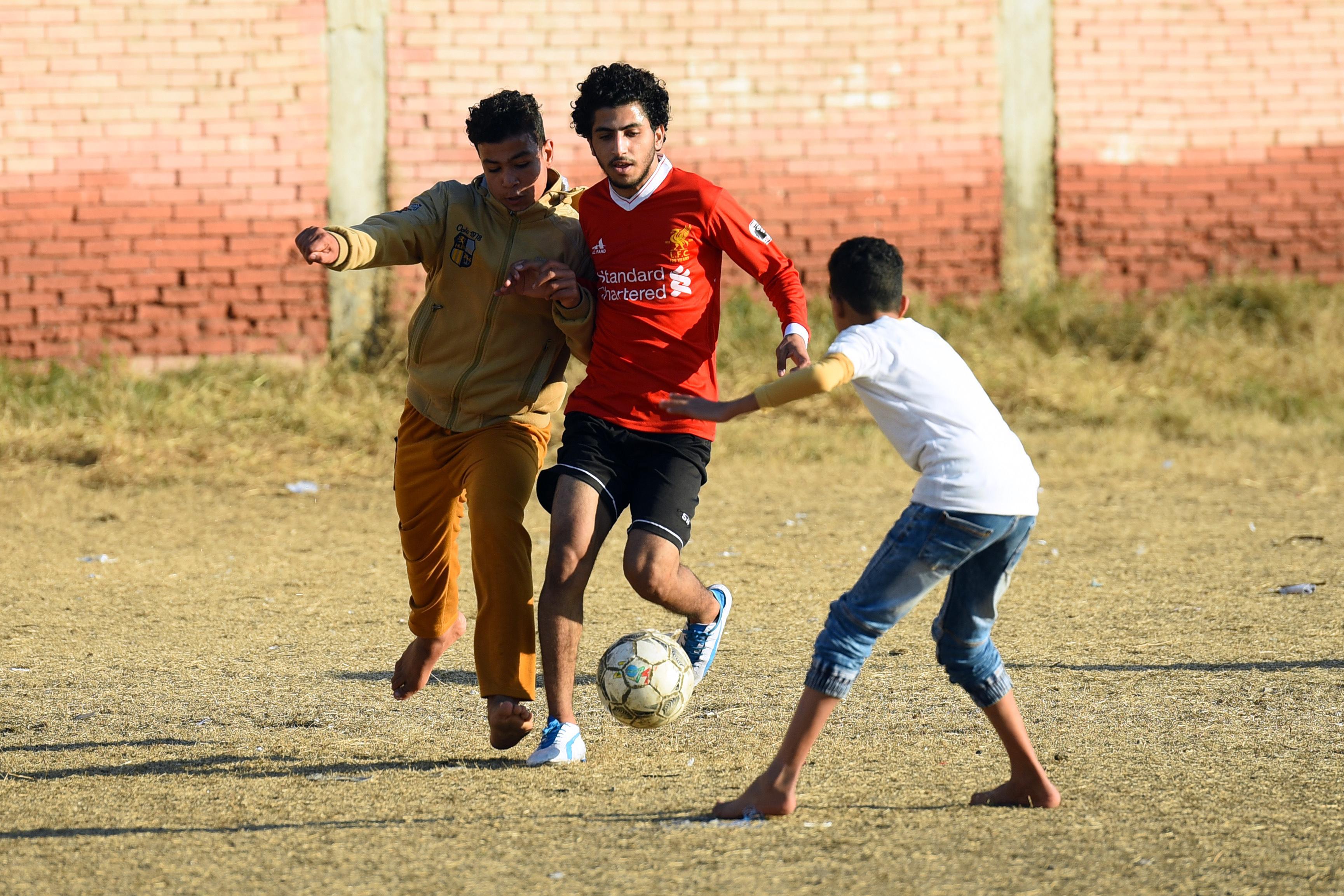 Children in Egypt dreaming of a career like Salah