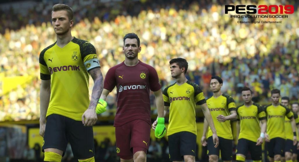 PES arrives months before FIFA 19