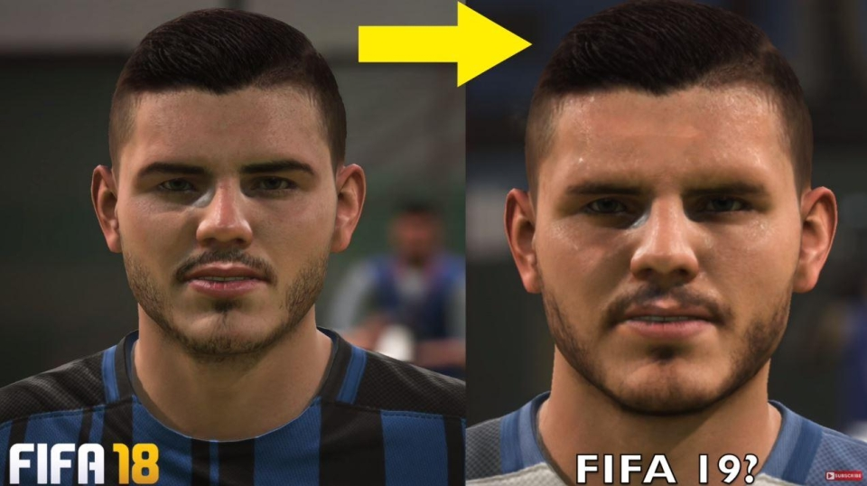 Softened facial hair and more realistic shadows around the eye area would massively elevate Icardi's FIFA model