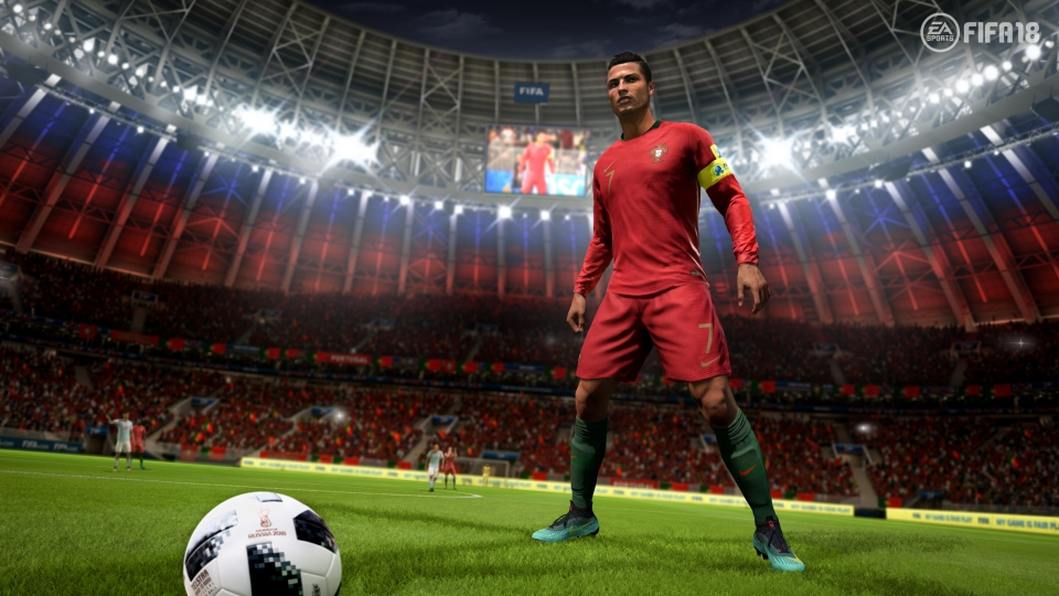 Cristiano Ronaldo in action for Portugal in the upcoming World Cup mode