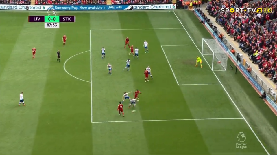 Mohamed Salah deliciously found Wijnaldum in the box