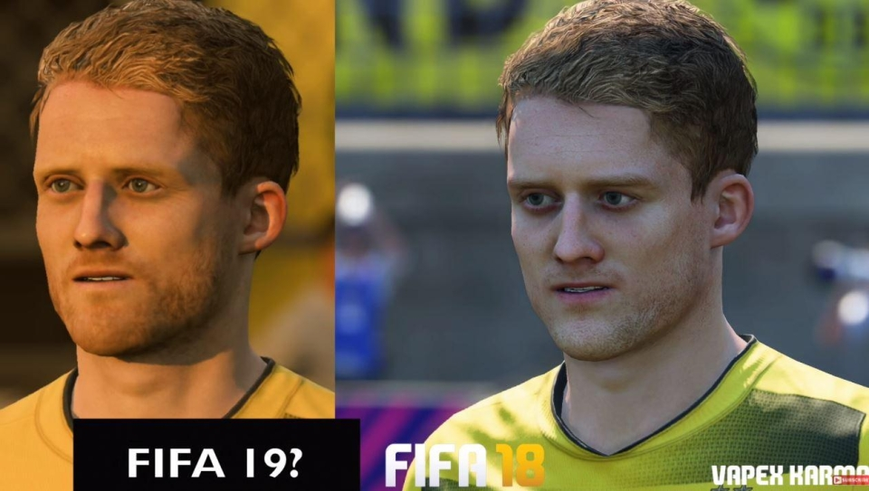 A more realistic beard and softened features help improve the German's look