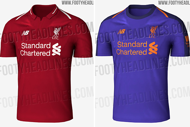buy popular c01ca 159a0 Liverpool's 2018/19 kits LEAKED with a bold new colour for ...