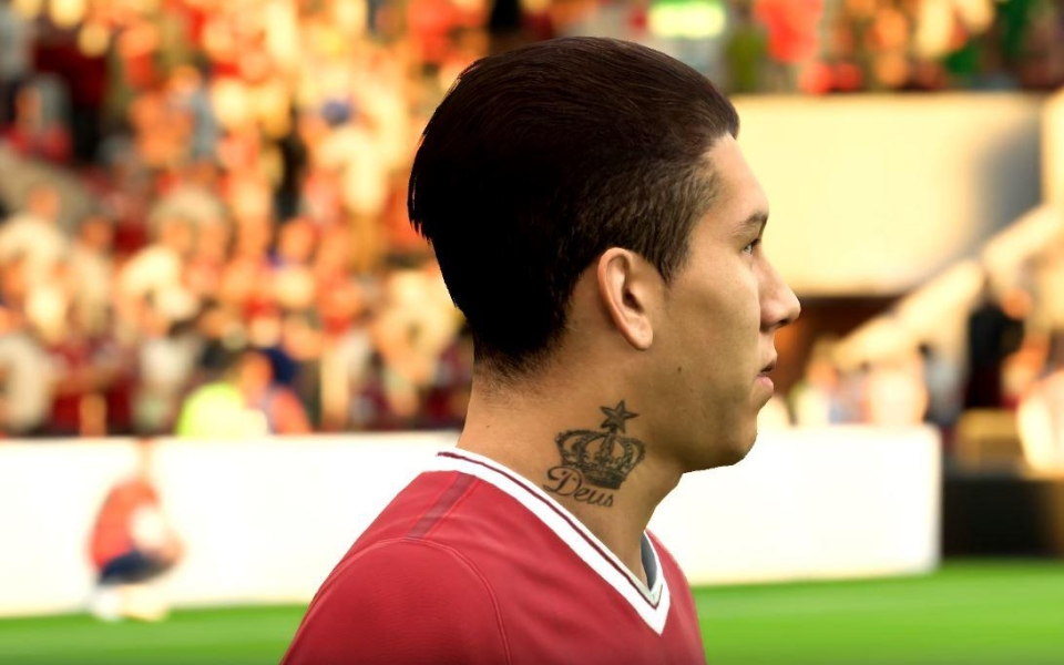 Some players sport their real-life tattoos