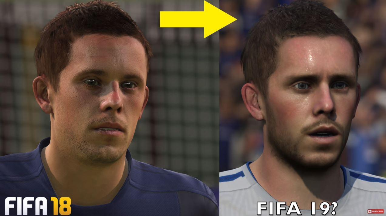 Arguably the most drastic change of the lot – with the FIFA 19 version looking far more human than the dead-behind-the-eyes FIFA 18 version