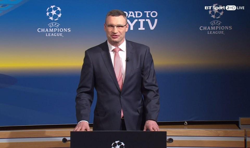 Oh yeah, Mayor of Kiev Vitali Klitschko was there as well