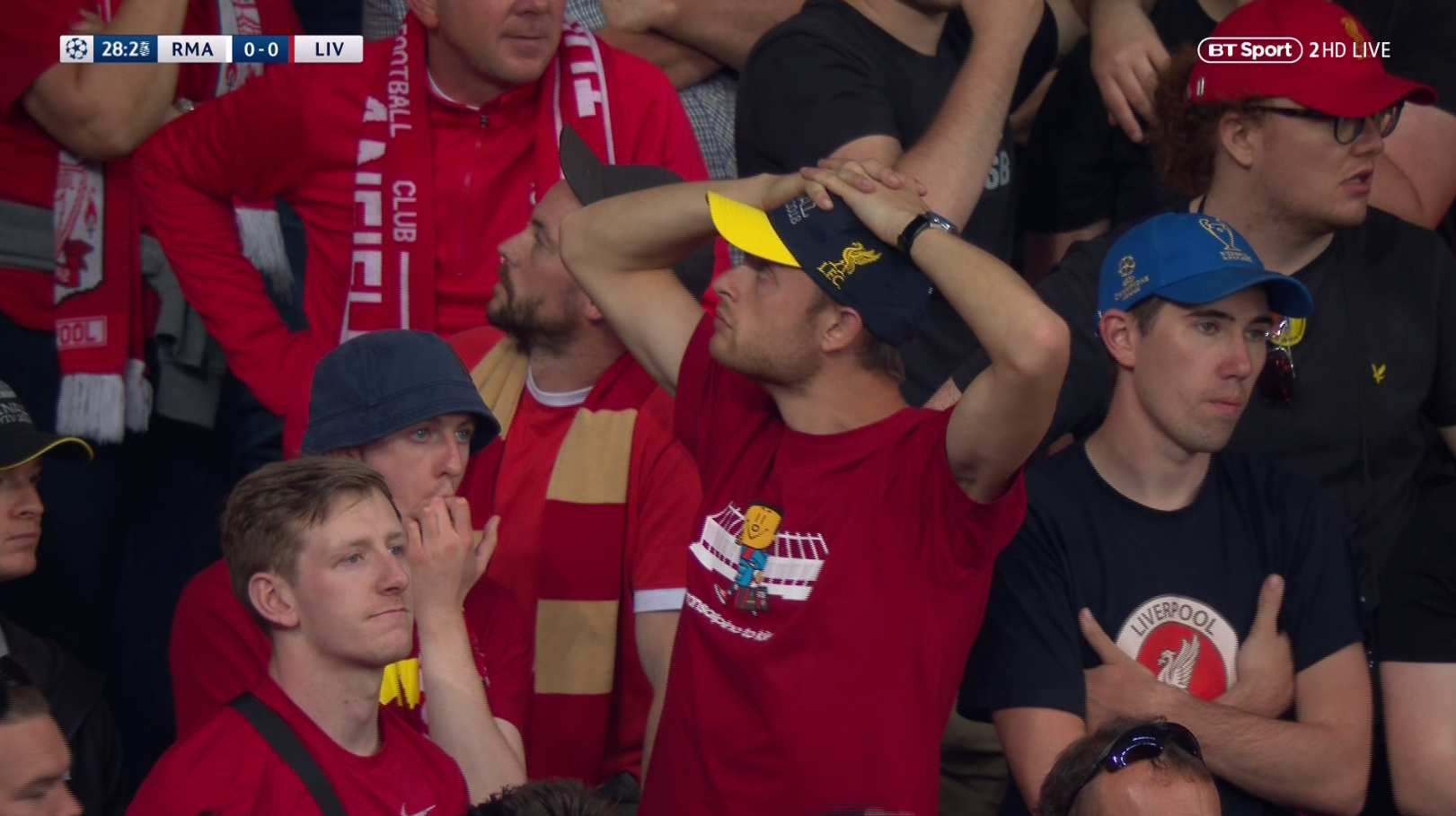 The faces speak a thousand words… nice bucket hat, mate