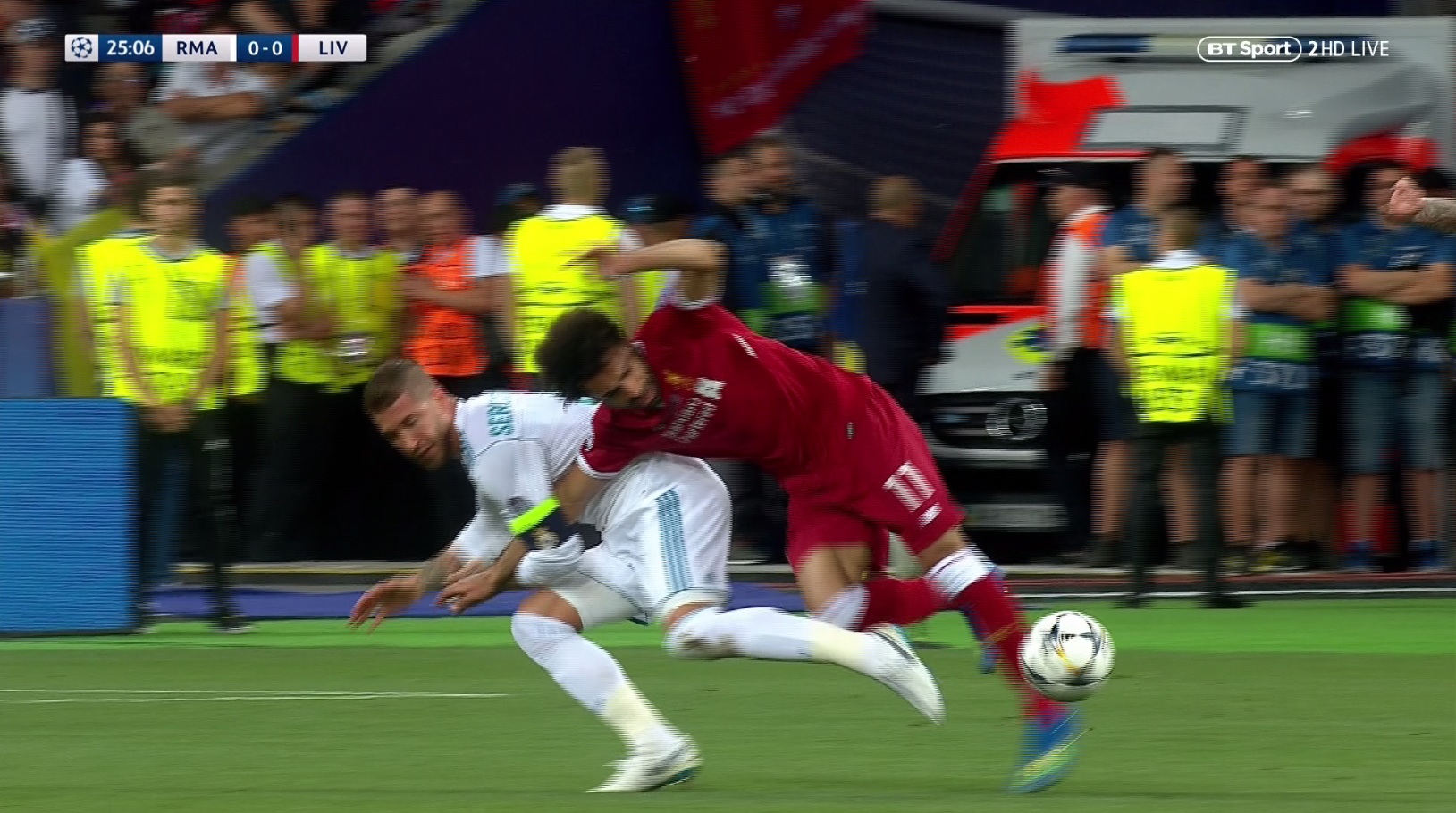 The Madrid captain showed off his best wrestling move