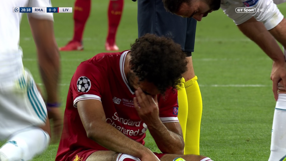 Salah couldn't hold back the tears