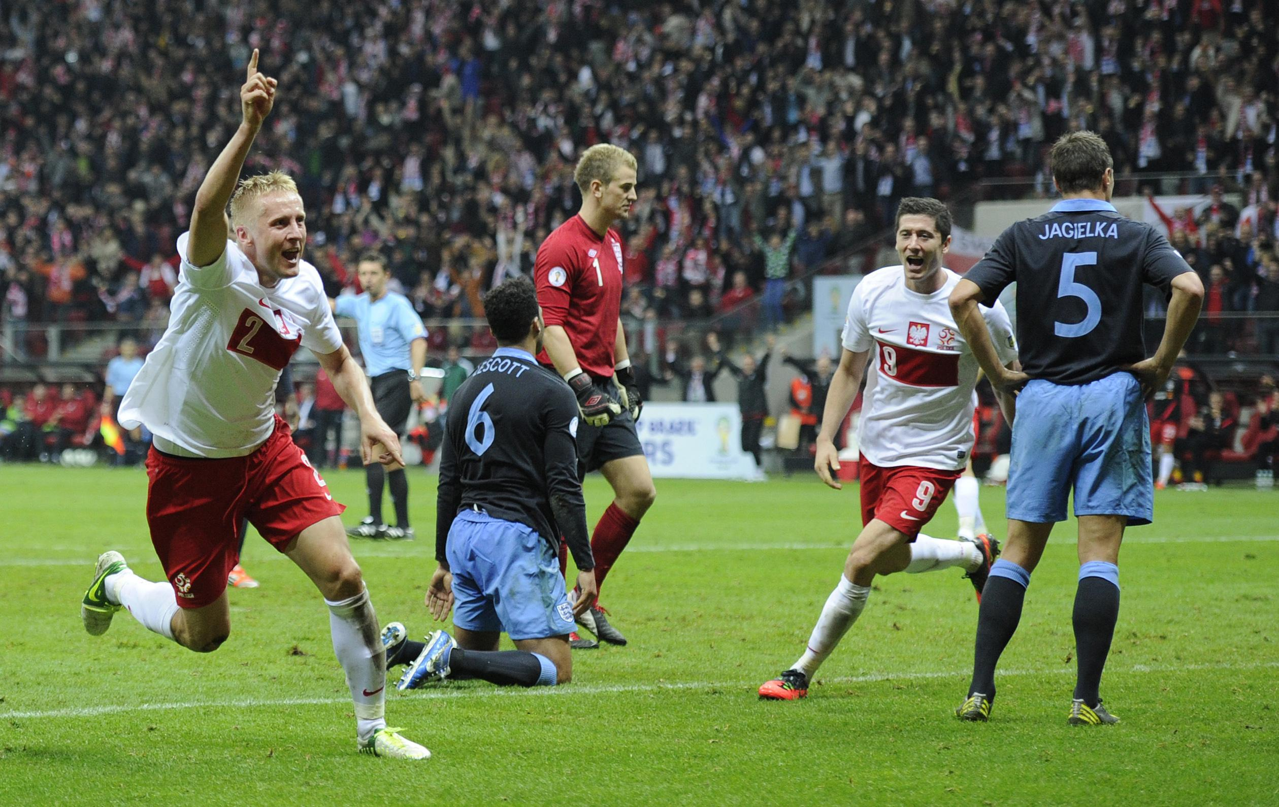 Glik bagged himself a goal against England in 2012. Yes, that is Phil Jagielka and Joleon Lescott