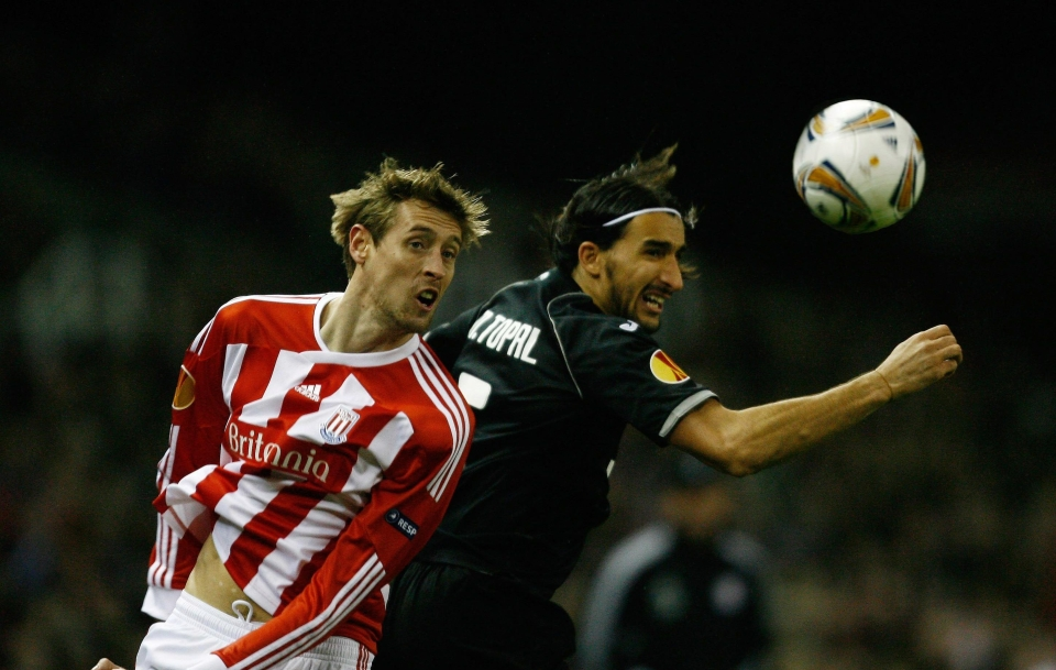 Crouchy testing himself against Spanish opposition