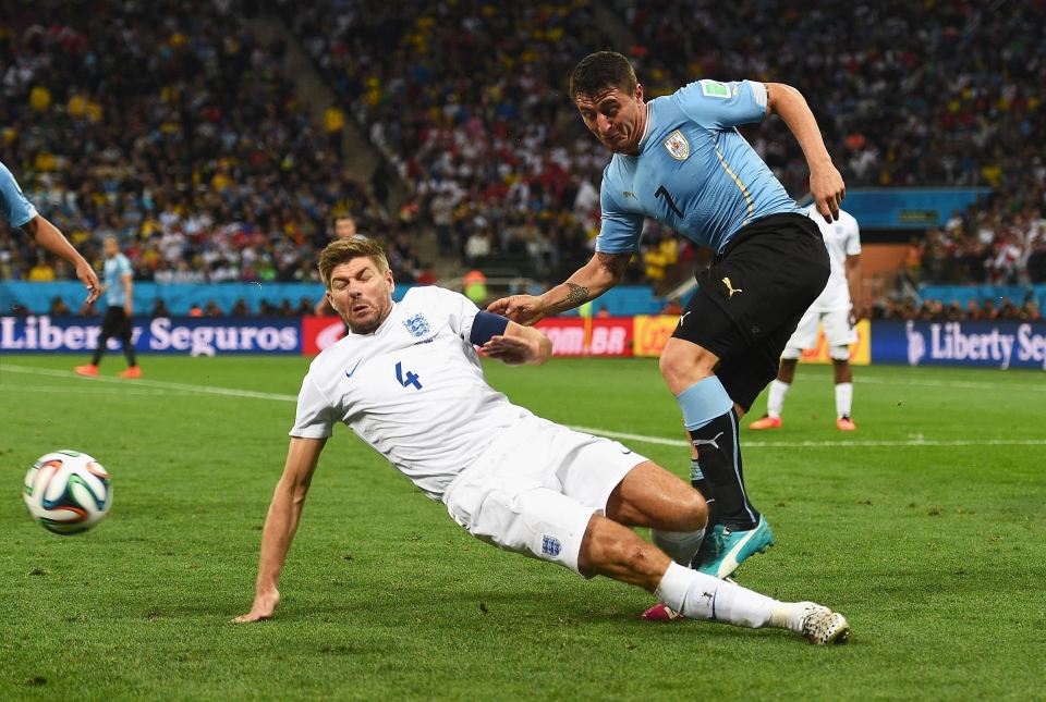 A rare slip for Steven Gerrard