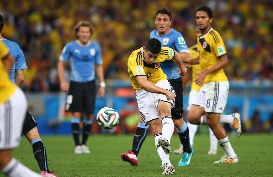 James, James Bond, scored THAT wonder goal to send Uruguay packing