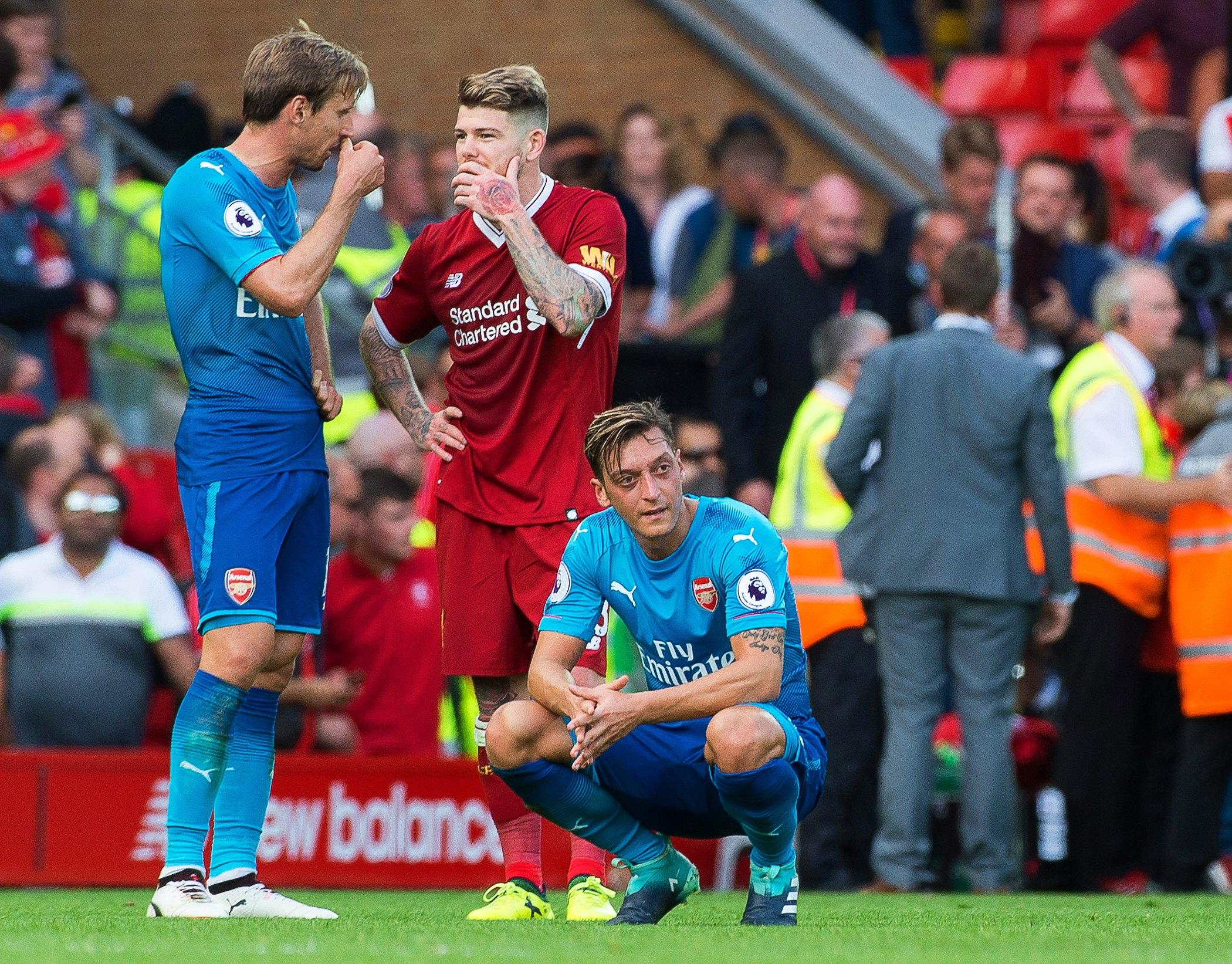 The Gunners took a beating at Anfield… Nacho Monreal just wants a chat though