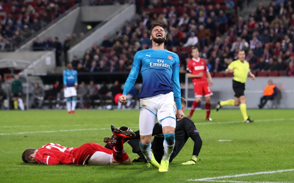 Arsenal were beaten 1-0 in November