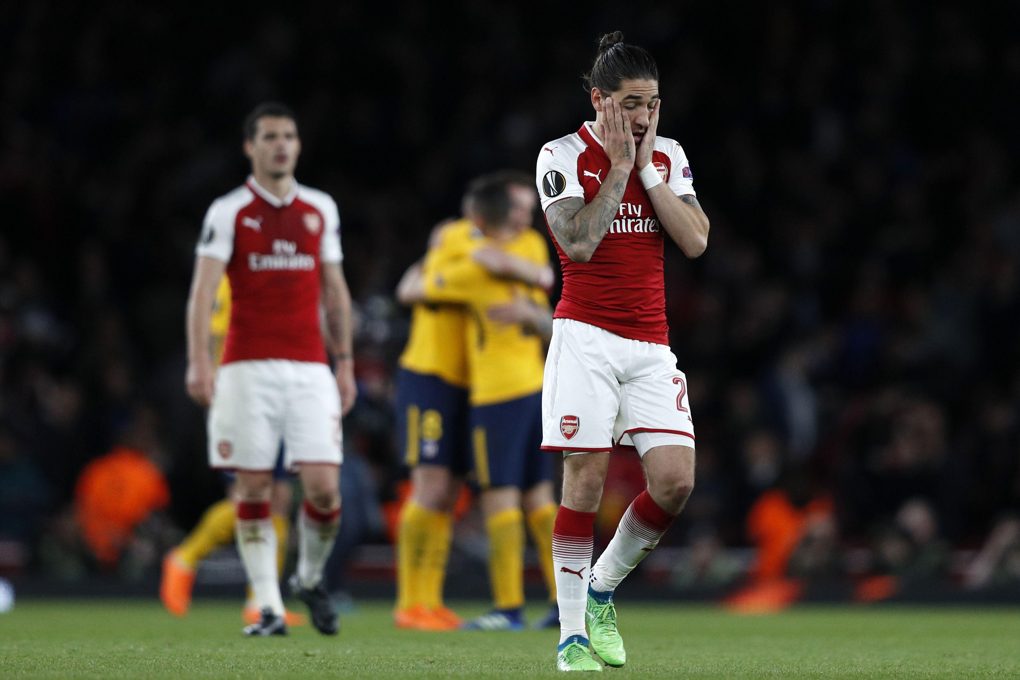 Disappointment, a familiar sight for Arsenal fans