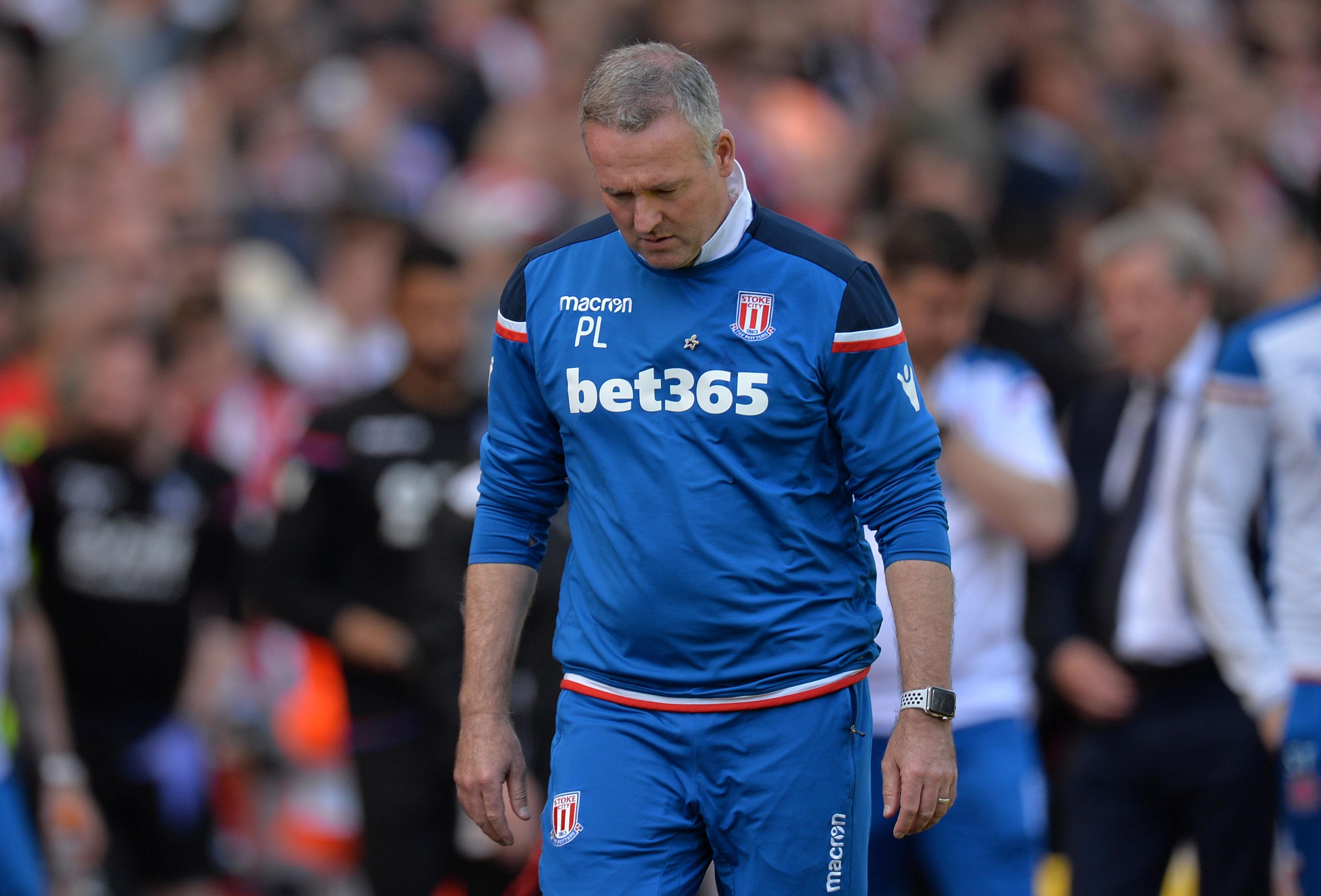 Lambert cut a despondent figure