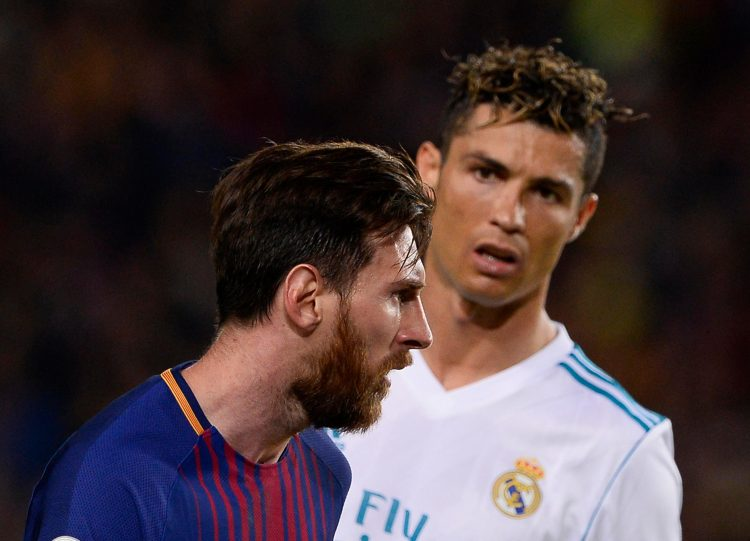 Two GOATs on the same pitch