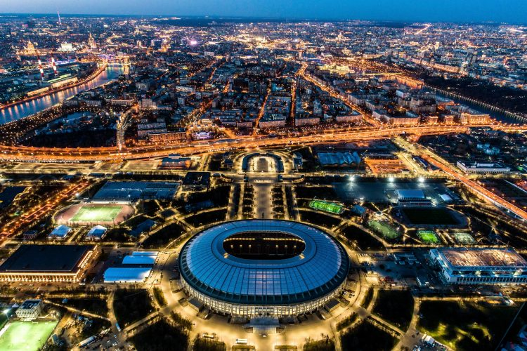 The Luzhniki Stadium where Russia will kick-off the World Cup