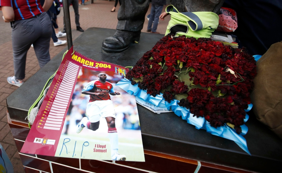 Fans left tributes outside the ground