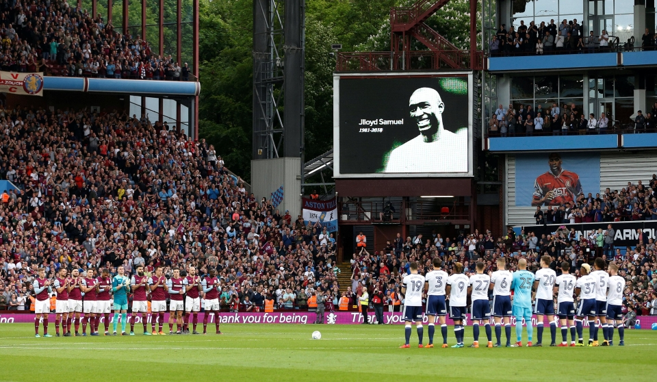 The big screen showed some of Samuel's best moments at the club during the rapturous round of applause.