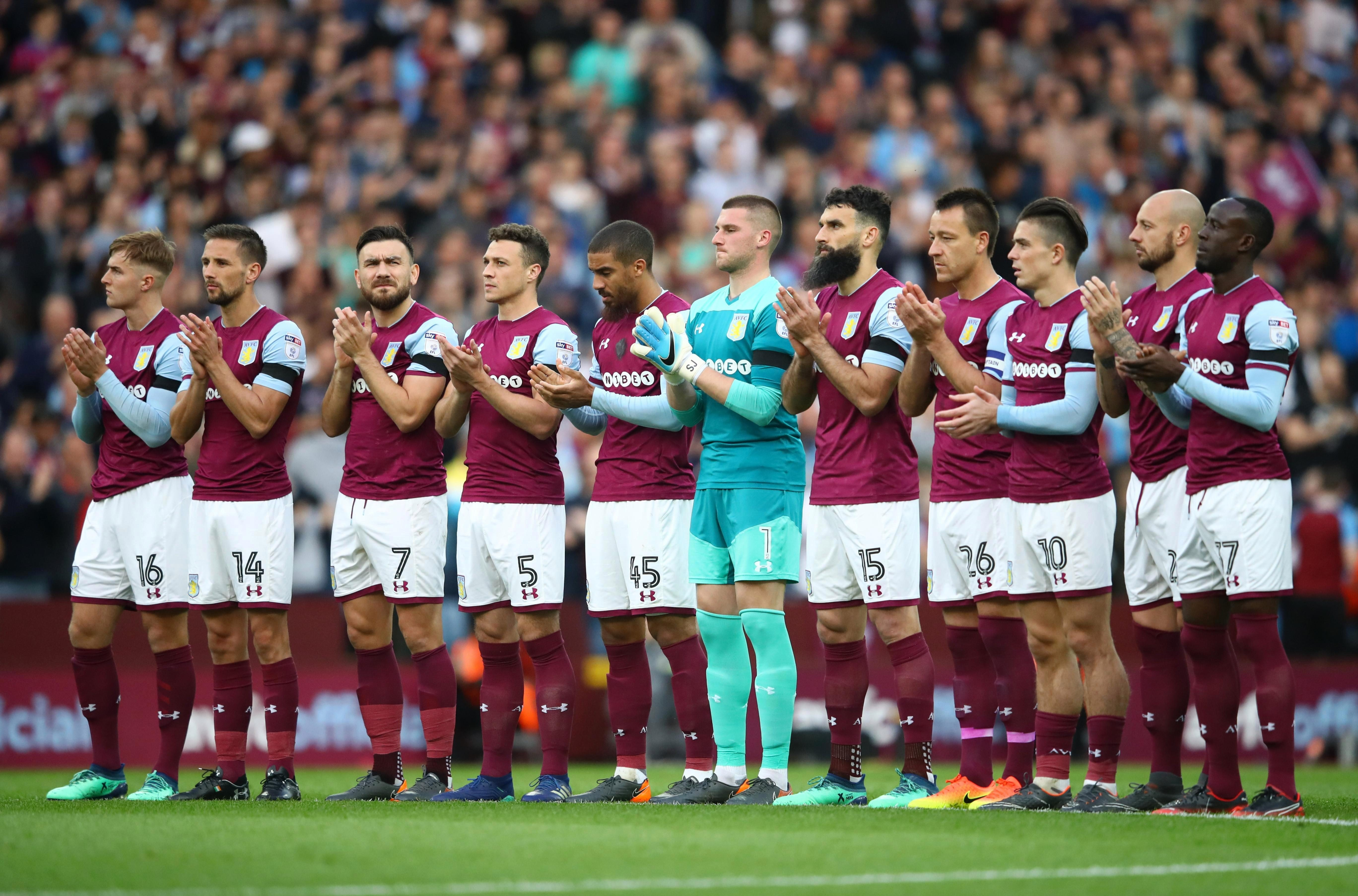 The current players paid their respects to the former Villa man