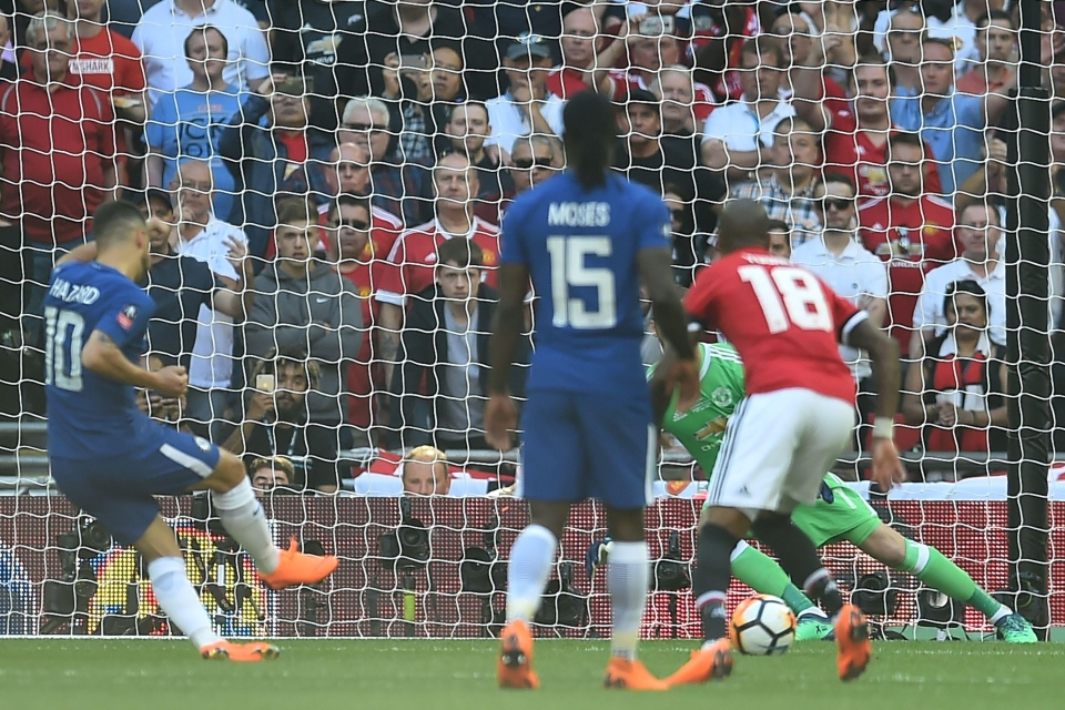 He converts the penalty with ease