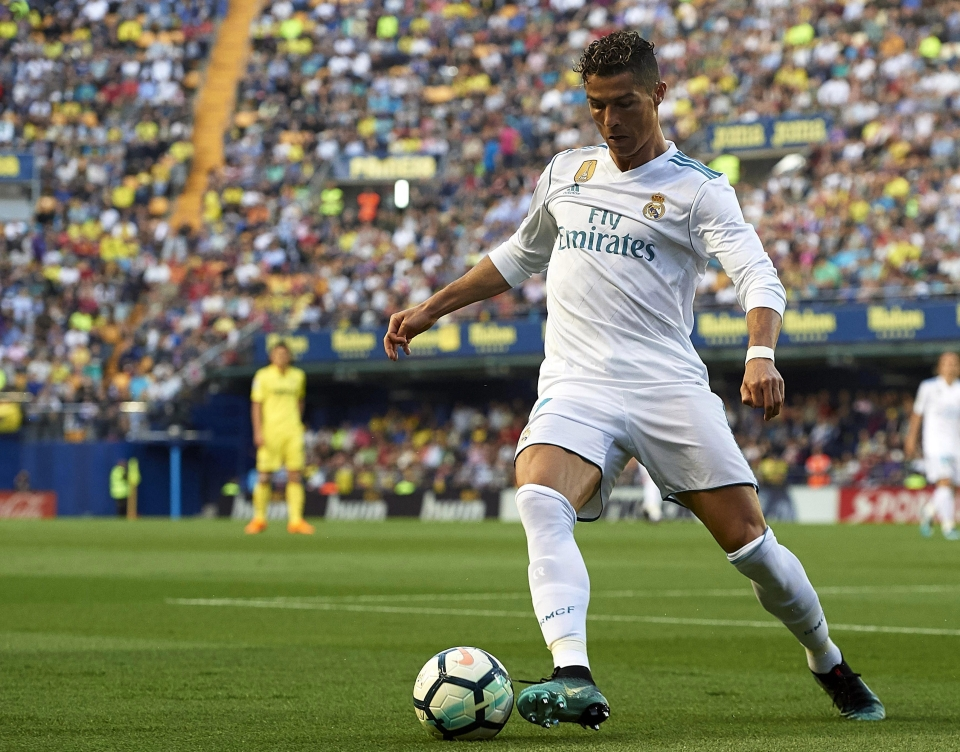 He may be more of a fox in the box these days but Ronaldo still operates in the channel between the centre-back and the right-back
