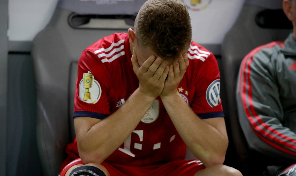 Kimmich despondent at the final whistle