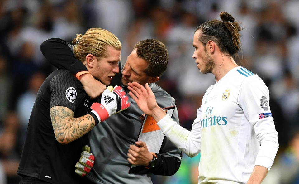 Bale sought out Karius for a handshake at the end