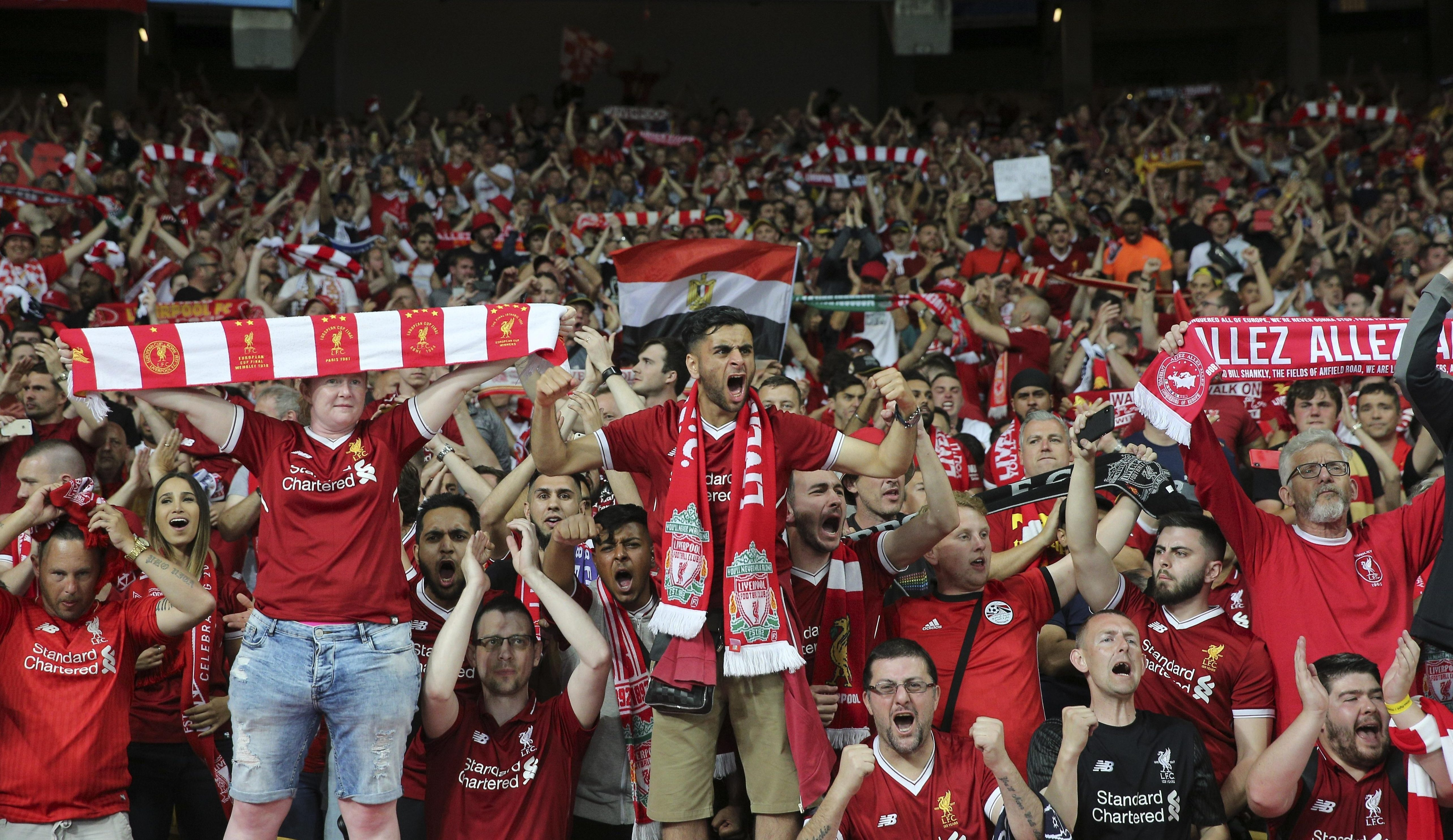 Liverpool fans are some of the best in Europe