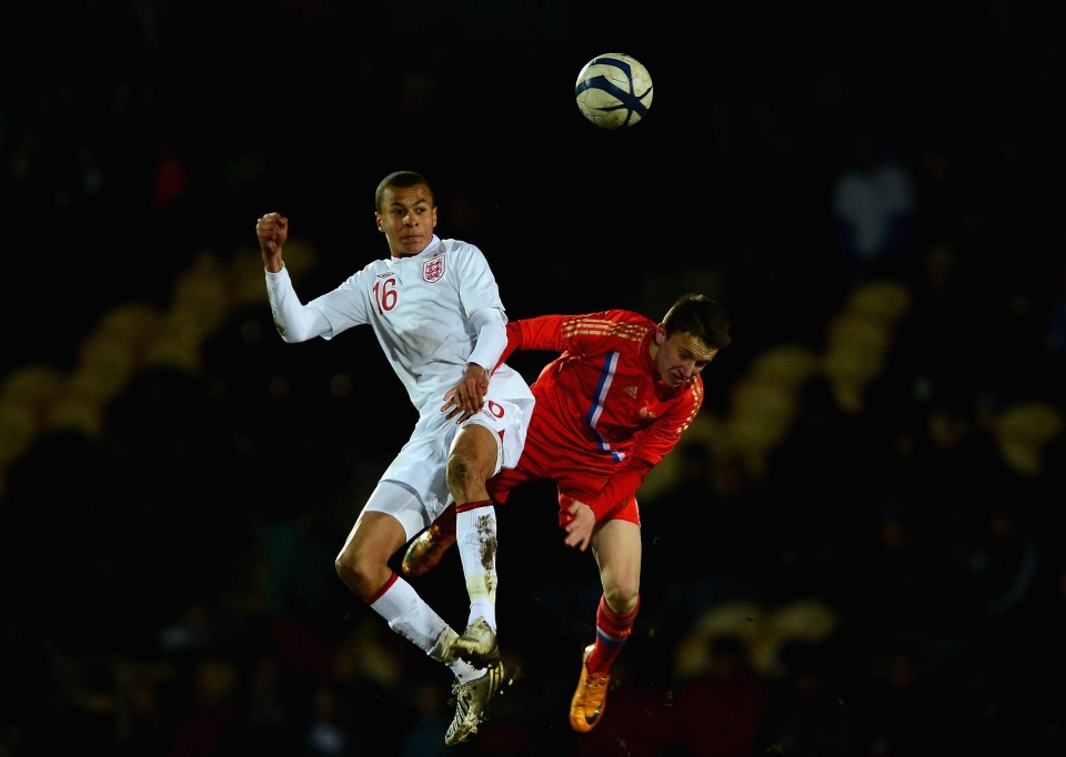 Dele Alli played against Golovin in the competition