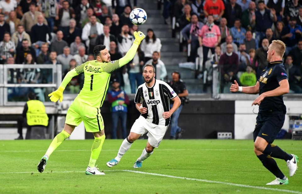 Higuain was the difference against Monaco in 2017