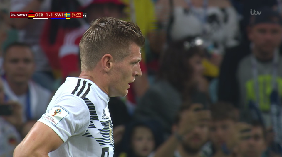 This reminded everyone of Ronaldo's expression before his free-kick against Spain