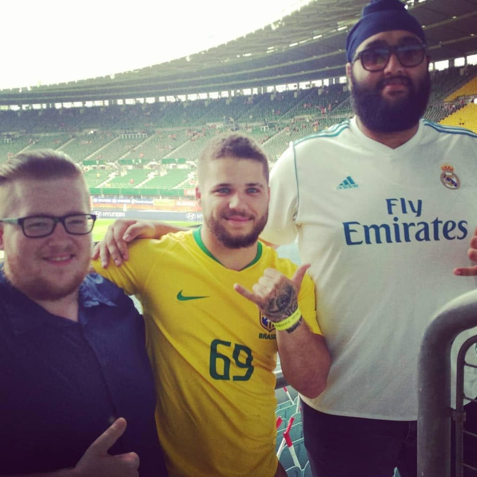 At Brazil's friendly with Austria earlier this month