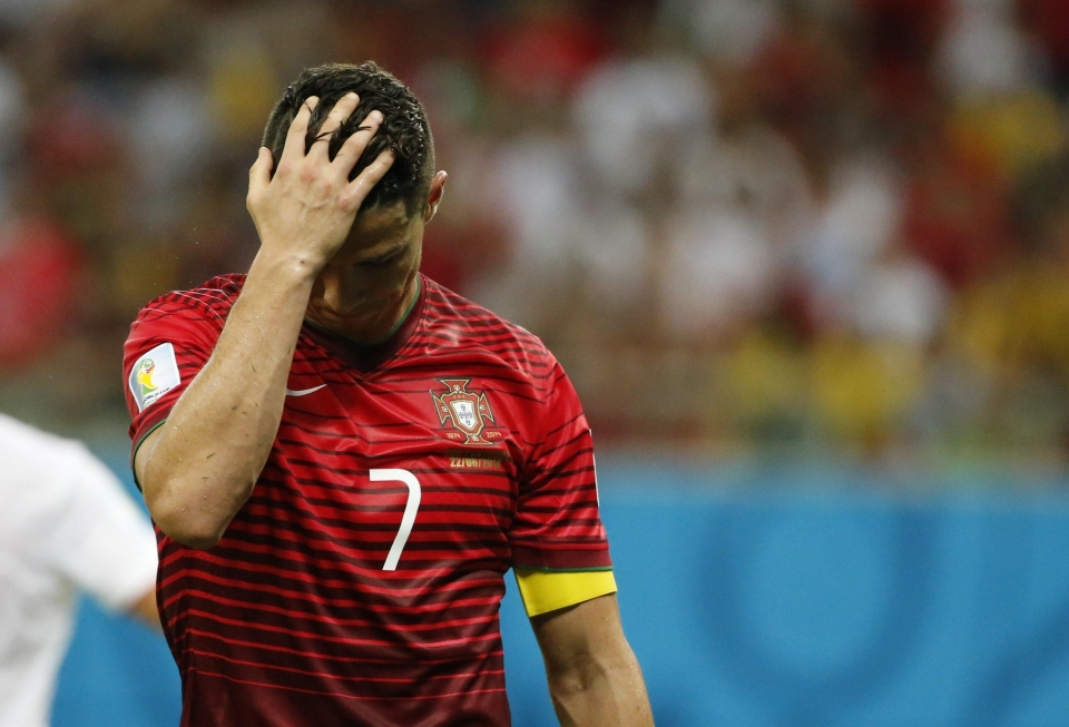Ronaldo suffered a similar tournament of anguish in 2014