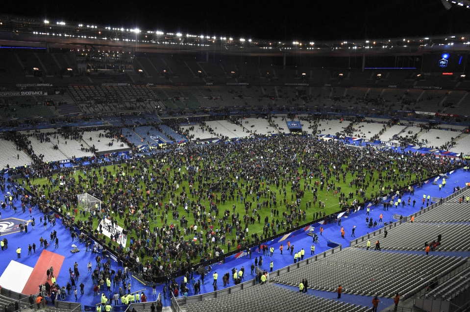 France's clash with Germany was overshadowed by a series of attacks in Paris
