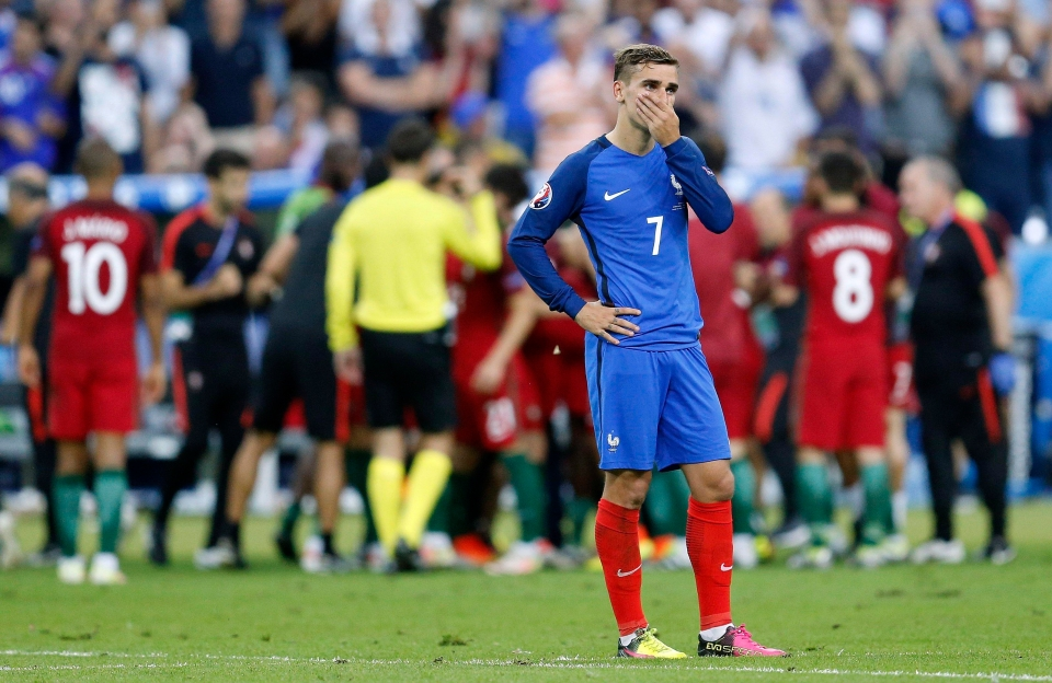 Griezmann was very nearly playing in red in the final of Euro 2016