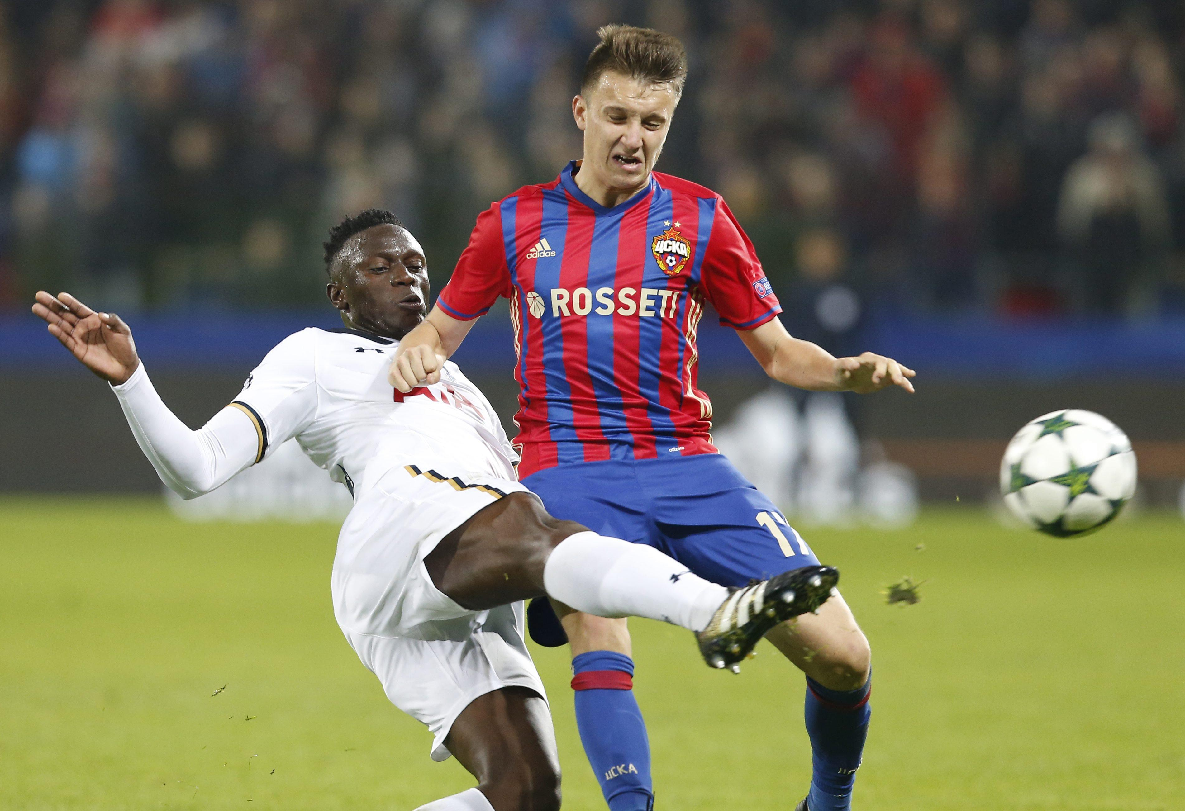 The youngster couldn't help CSKA out of their group which featured Spurs