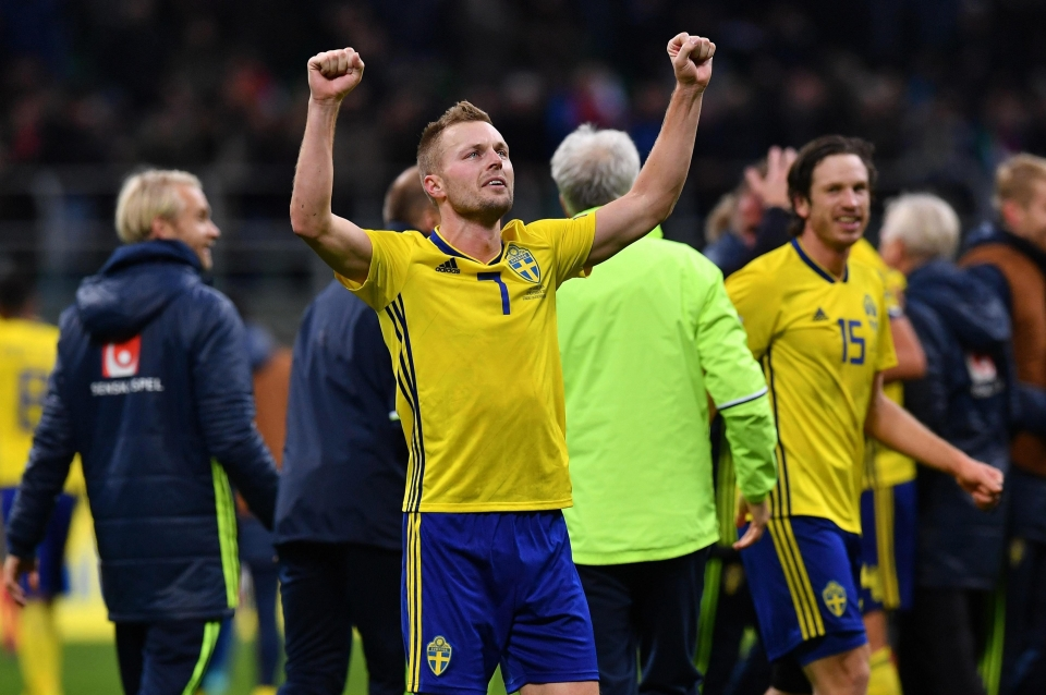 Sebastian Larsson is just two appearances shy of 100 caps for Sweden