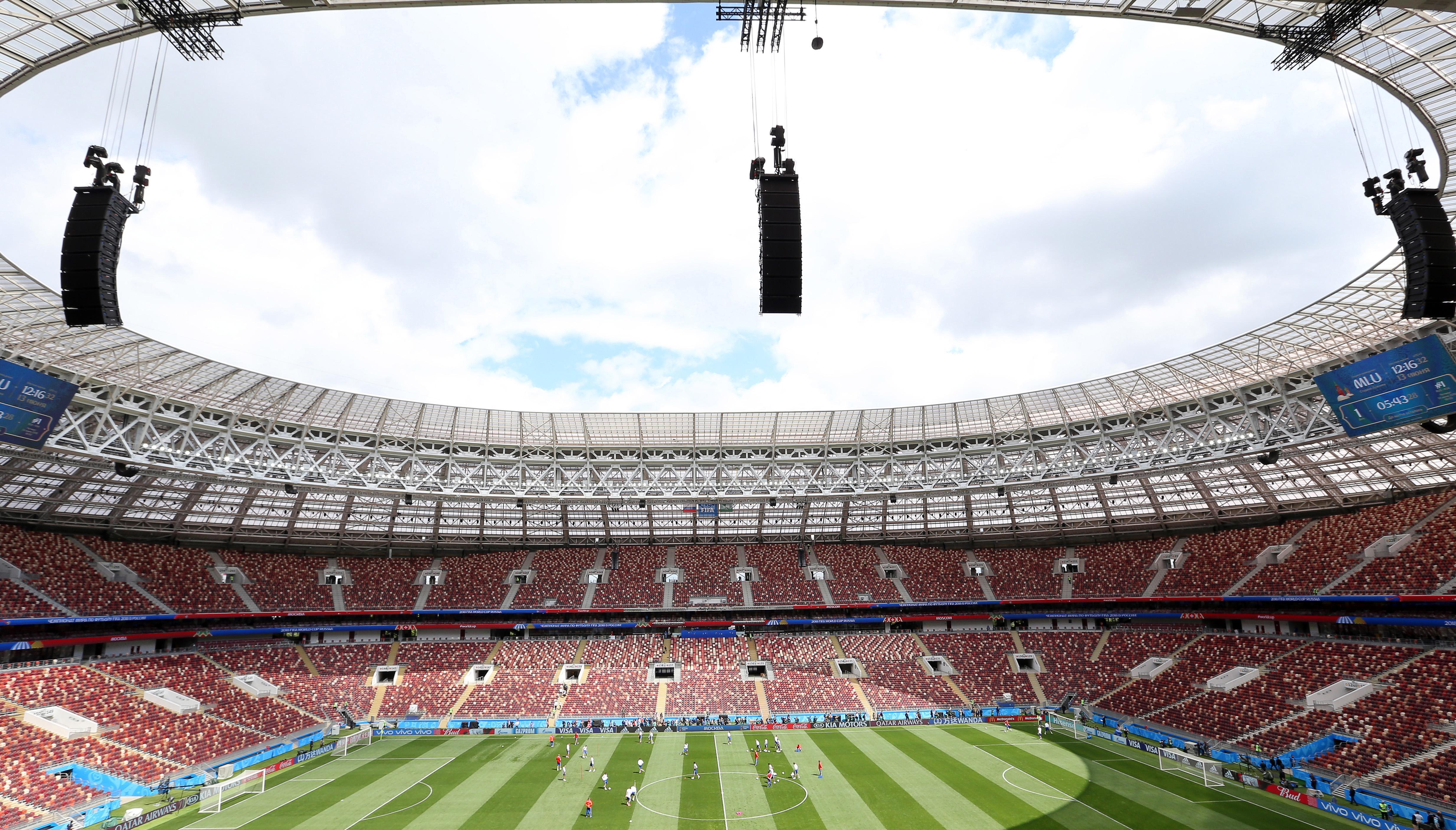 The magnificent Luzhniki Stadium