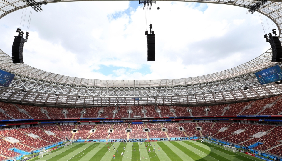 The magnificent Luzhniki Stadium