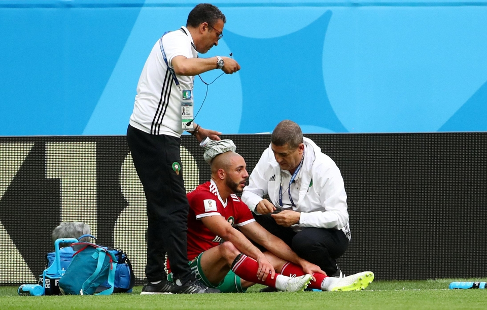 Amrabat was treated for concussion against Iran