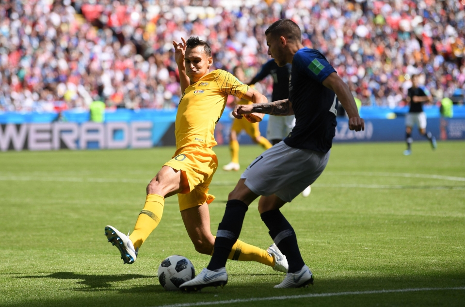 Trent Sainsbury burst the ball and forced the players to try something new today