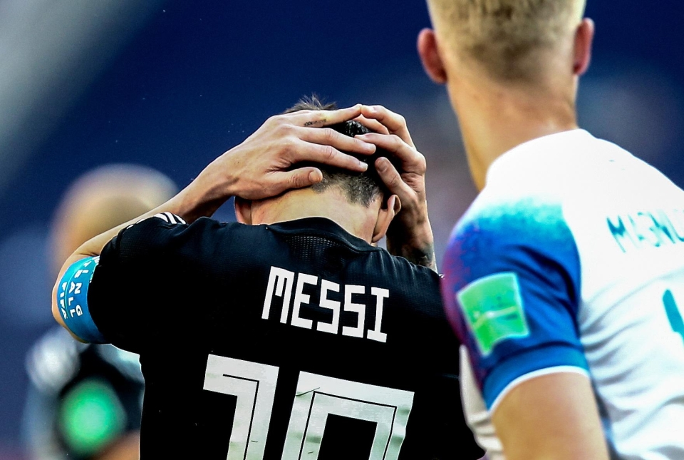 There was penalty anguish for Lionel Messi against Iceland