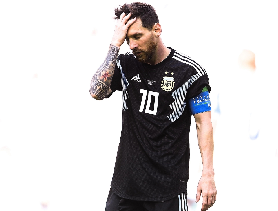 We assume Messi has returned his five Ballon d'Ors after missing a penalty against Iceland?